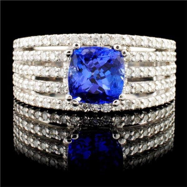 14K Gold 2.51ctw Tanzanite & 1.32ctw Diamond Ring