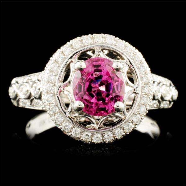 18K Gold 1.69ct Spinel & 0.47ctw Diamond Ring