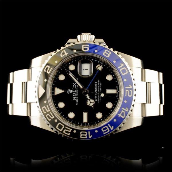 Rolex GMT-Master II Batman Oyster Steel Watch