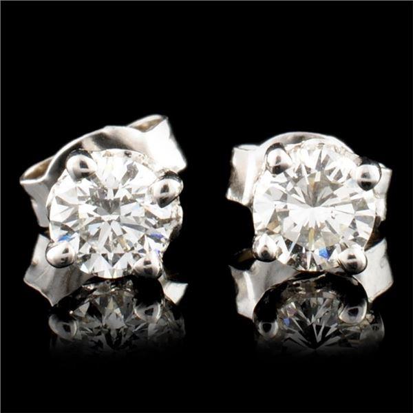 14K Gold 0.58ctw Diamond Earrings