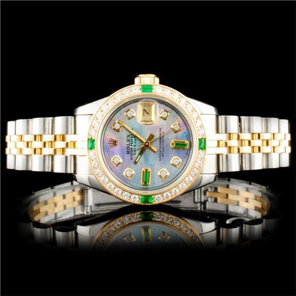 Rolex DateJust YG/SS Diamond Wristwatch