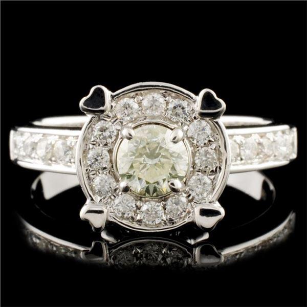 18K Gold 0.79ctw Diamond Ring
