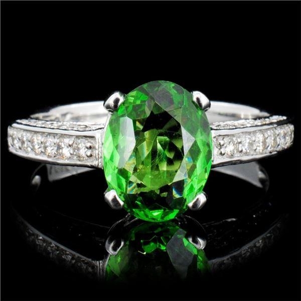 14K Gold 3.00ct Tourmaline & 1.00ctw Diamond Ring