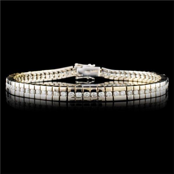 18K Gold 1.98ctw Diamond Bracelet