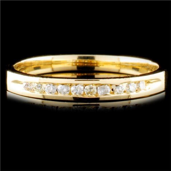 14K Gold 0.16ctw Diamond Ring