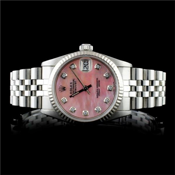 Rolex SS DateJust Mid-Size Wristwatch