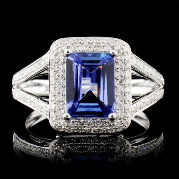 14K Gold 1.49ct Tanzanite & 0.42ctw Diamond Ring