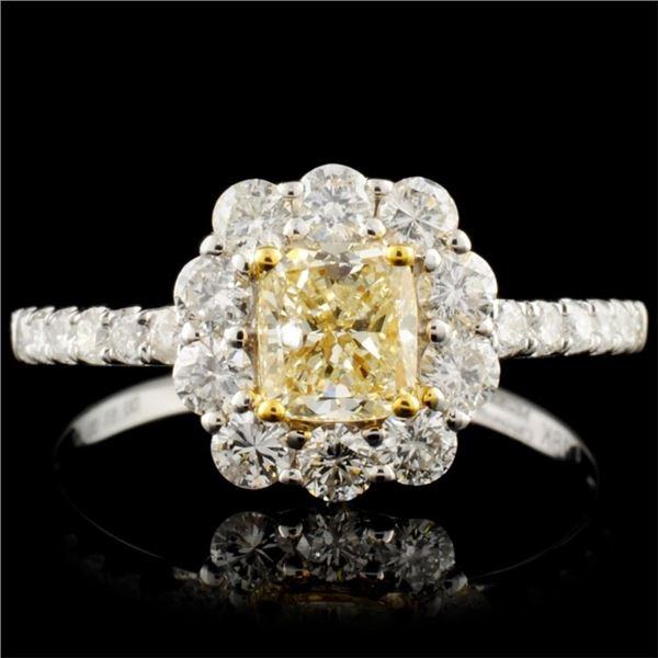 18K Gold 1.18ctw Fancy Diamond Ring