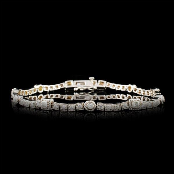 14K Gold 0.92ctw Diamond Bracelet