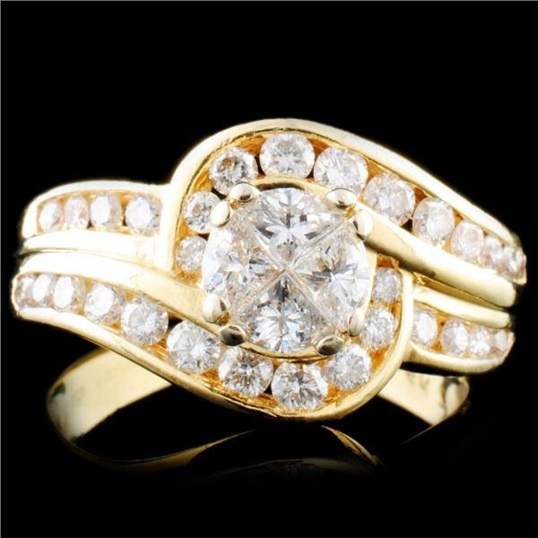 14K Gold 1.10ctw Diamond Ring