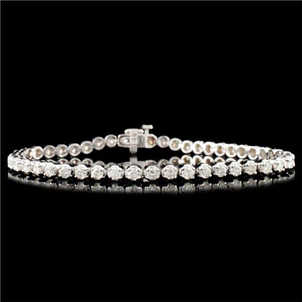 14K Gold 3.00ctw Diamond Bracelet
