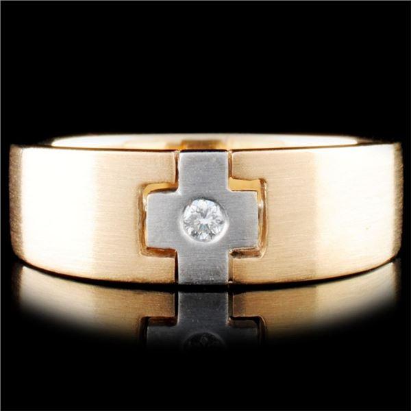 14K Gold 0.05ctw Diamond Ring