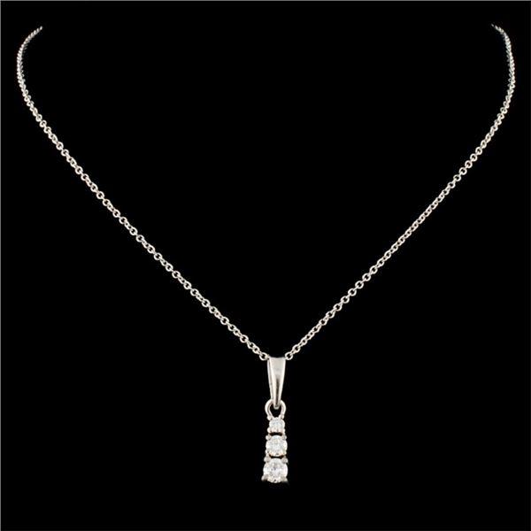 14K Gold 0.19ctw Diamond Pendant