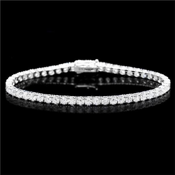 18k White Gold 8.00ct Diamond Bracelet