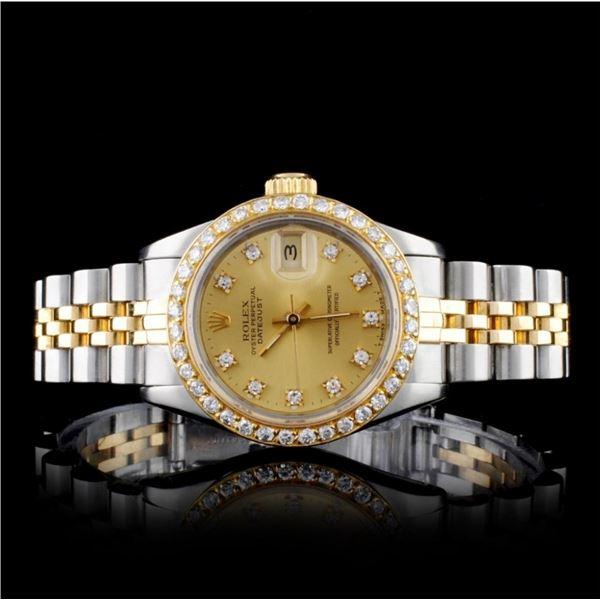 Rolex TT DateJust Diamond Ladies Watch