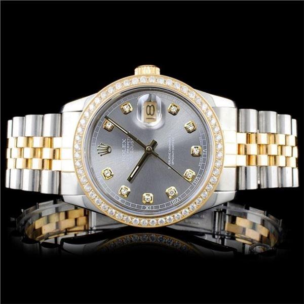 Rolex DateJust 18K/SS Diamond 36mm Watch