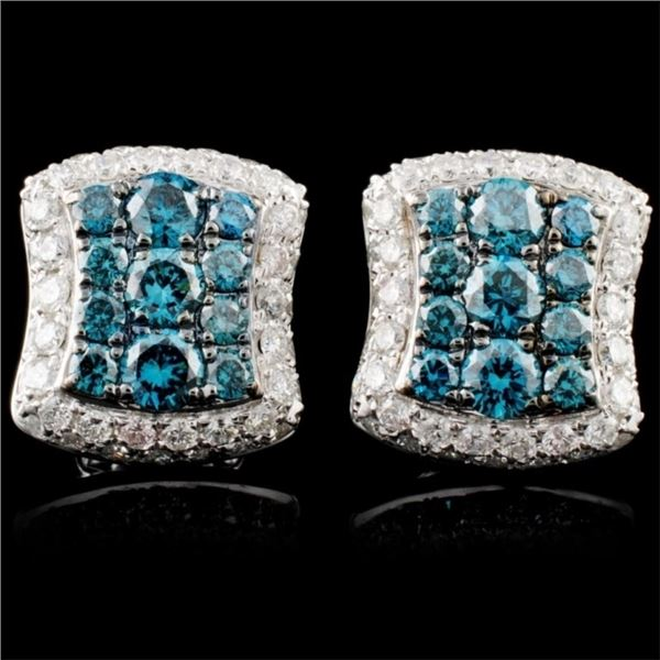 14K Gold 1.61ctw Fancy Diamond Earrings