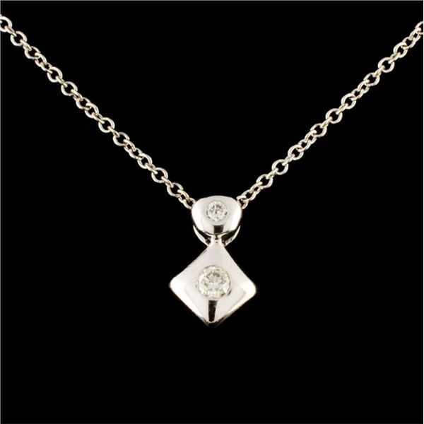 14K Gold 0.05ctw Diamond Pendant