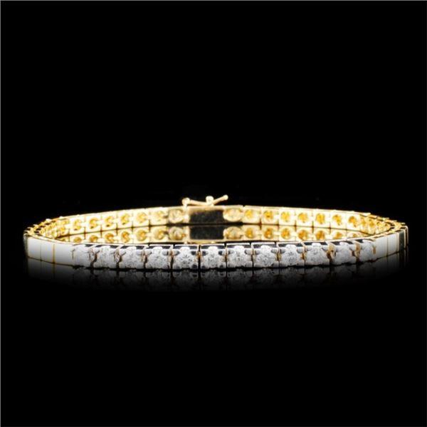 14K Gold 0.96ctw Diamond Bracelet