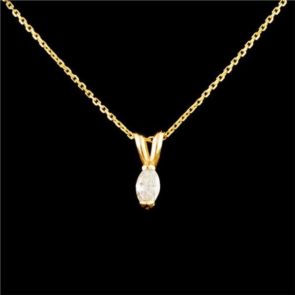 14K Gold 0.11ctw Diamond Pendant