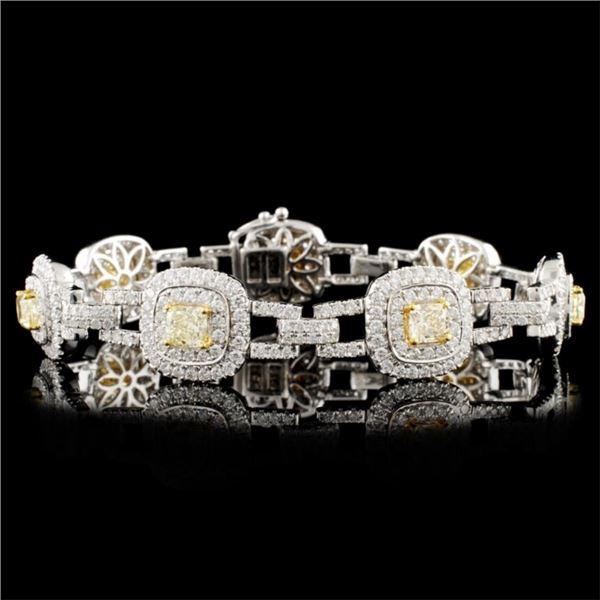18K Gold 7.88ctw Fancy Diamond Bracelet