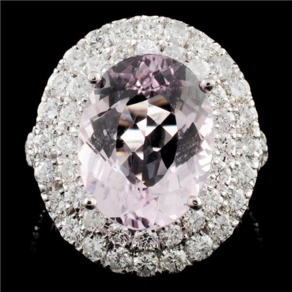 14K Gold 4.39ct Morganite & 2.22ctw Diamond Ring