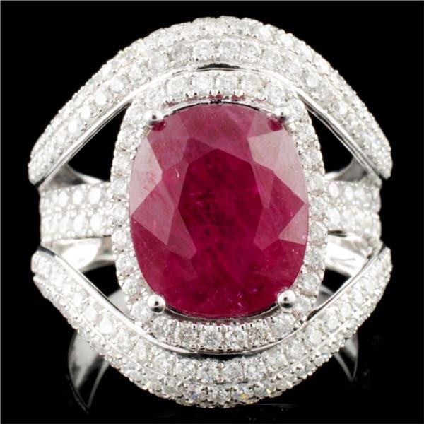 18K Gold 5.17ct Ruby & 1.95ctw Diamond Ring