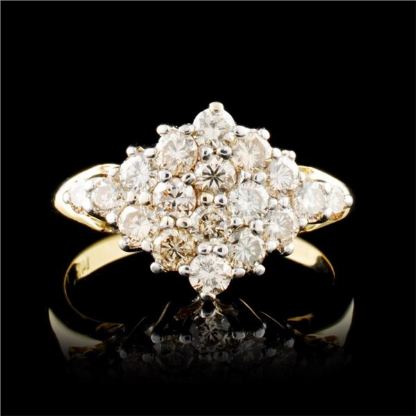14K Gold 0.85ctw Diamond Ring