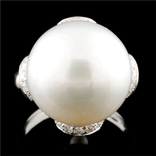 18K Gold 15.00MM & 0.99ctw Diamond Ring