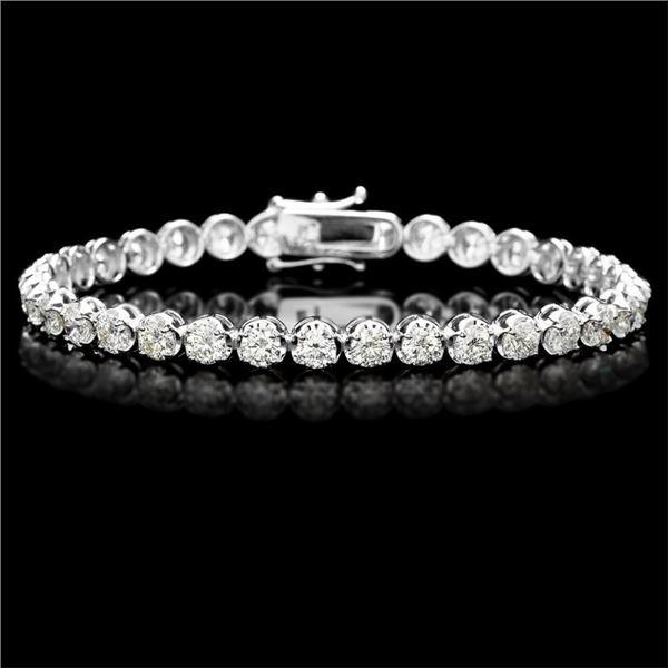 18k White Gold 9.00ct Diamond Tennis Bracelet