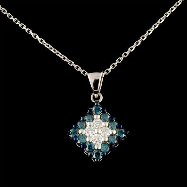 14K Gold 0.55ctw Diamond Pendant