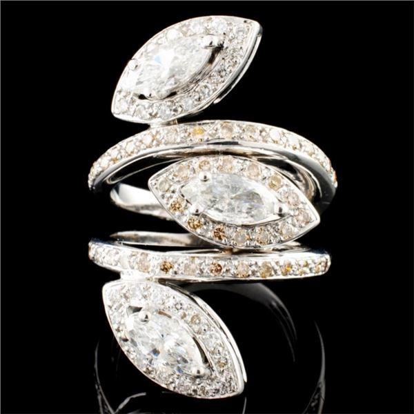 18K Gold 2.47ctw Diamond Ring