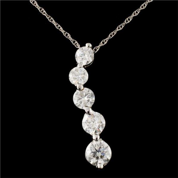 14K Gold 1.60ctw Diamond Pendant