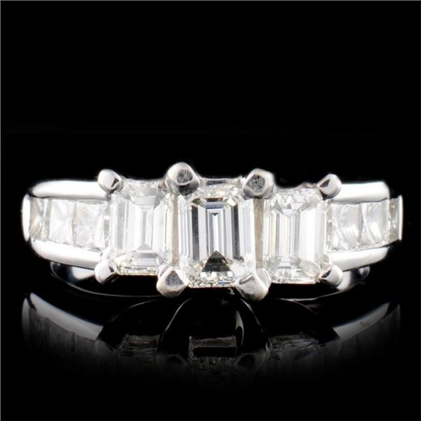 14K White Gold 1.91ctw Diamond Ring