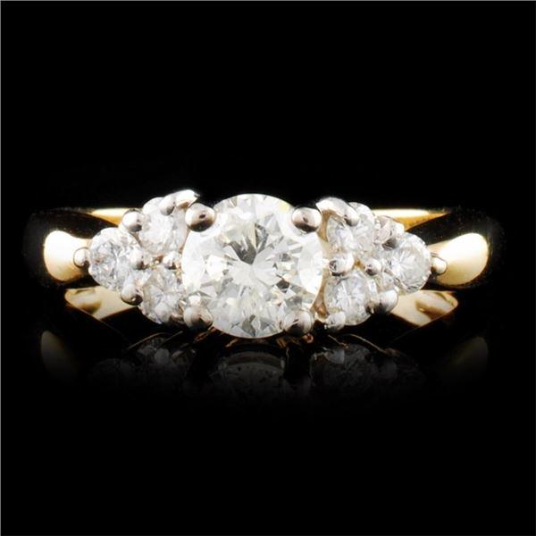 14K Gold 0.98ctw Diamond Ring