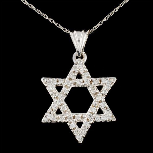 14K Gold 1.15ctw Diamond Star Pendant