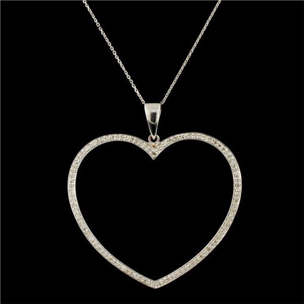 14K Gold 1.00ctw Diamond Pendant