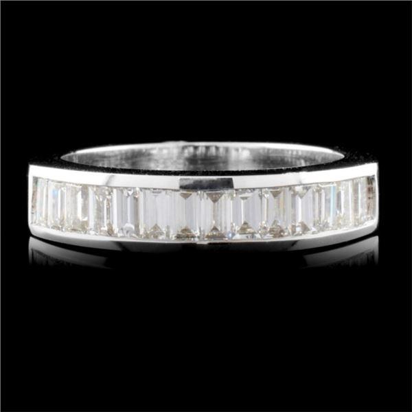 14K White Gold 1.00ctw Diamond Ring