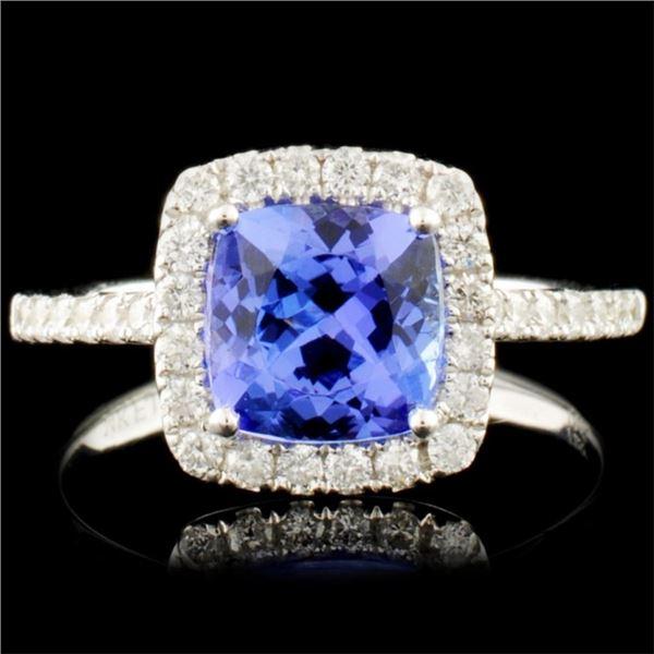 14K Gold 1.61ct Tanzanite & 0.42ctw Diamond Ring