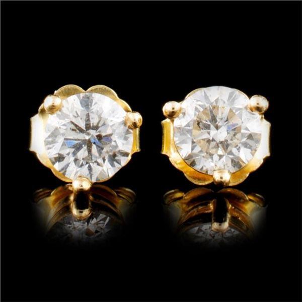14K Gold 1.00ctw Diamond Earrings
