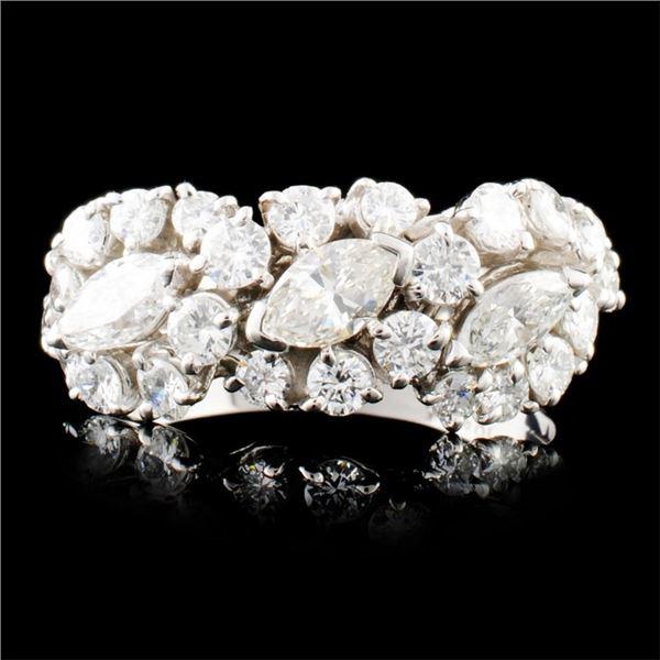 Platinum 1.57ctw Diamond Ring