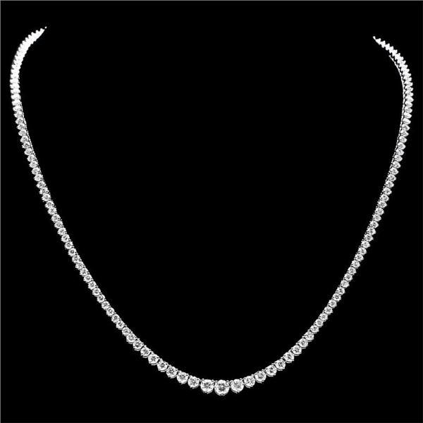18k White Gold 10.00ct Diamond Necklace