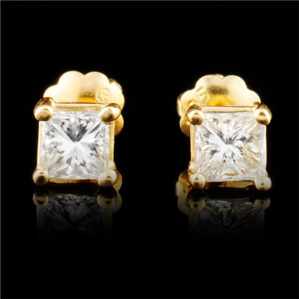 14K Gold 0.56ctw Diamond Earrings