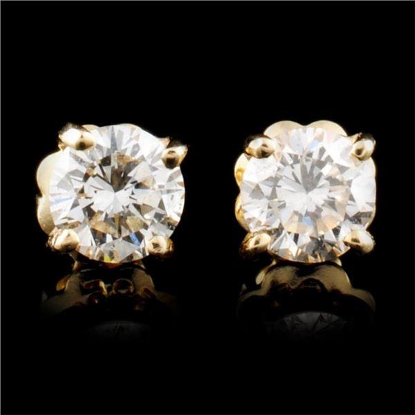 14K Gold 0.48ctw Diamond Earrings
