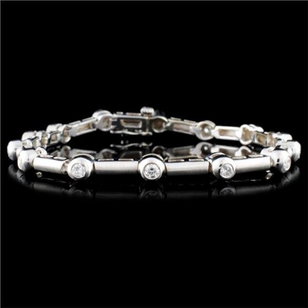 14K Gold 1.62ctw Diamond Bracelet