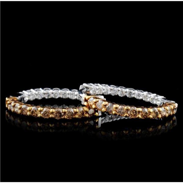 14K White Gold 1.38ctw Fancy Color Diamond Earring