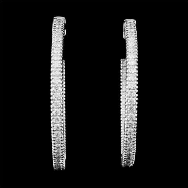 14K Gold 0.91ctw Diamond Earrings