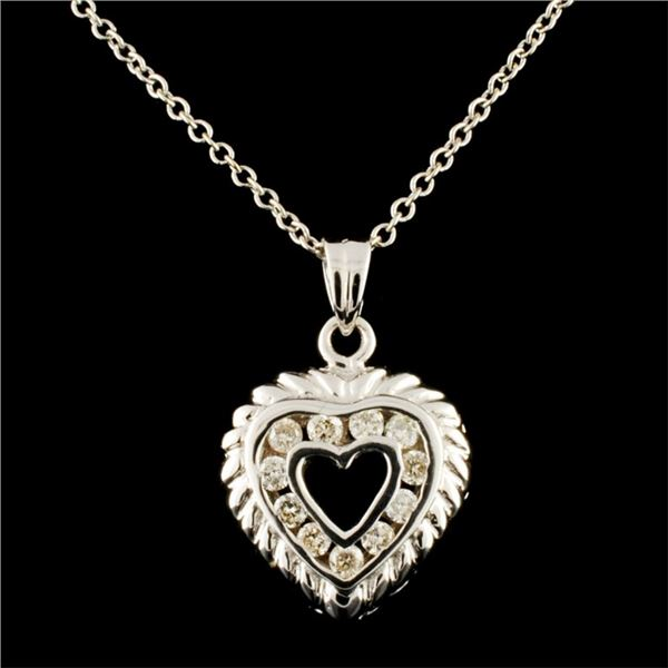 14K Gold 0.14ctw Diamond Pendant