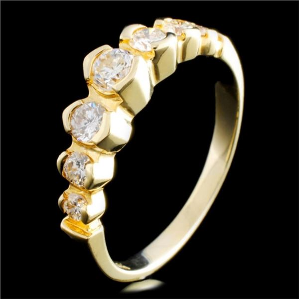 14K Gold 0.58ctw Diamond Ring