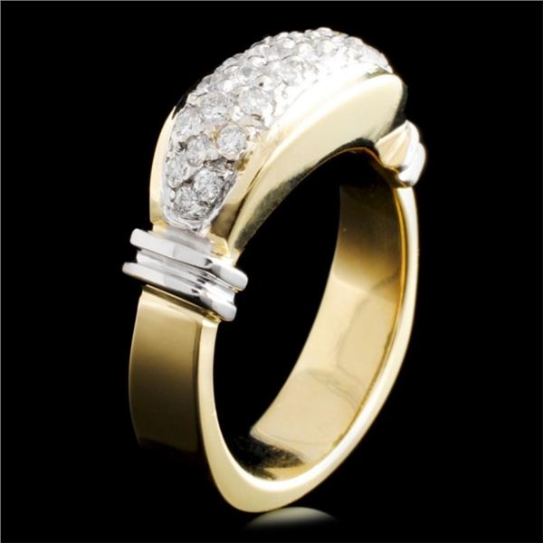 14K Gold 0.80ctw Diamond Ring